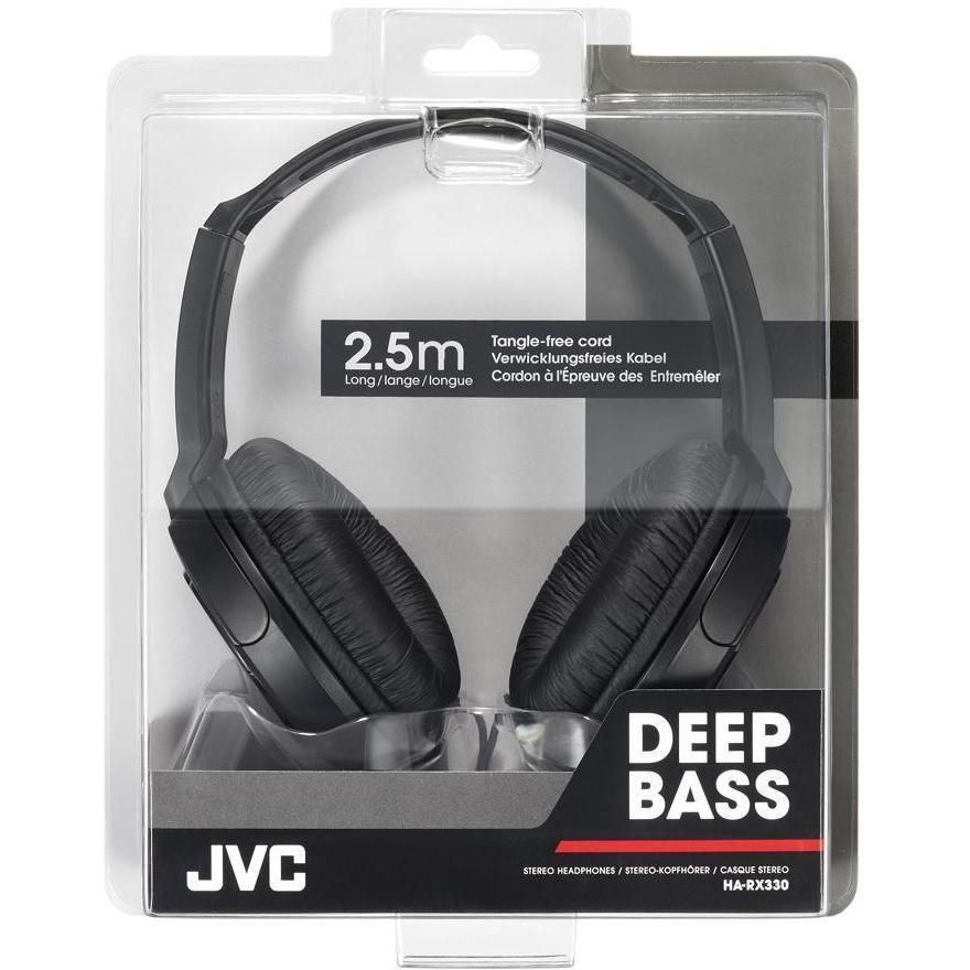JVC HA-RX330-E cuffie full size con cavo 2,5 metri colore nero