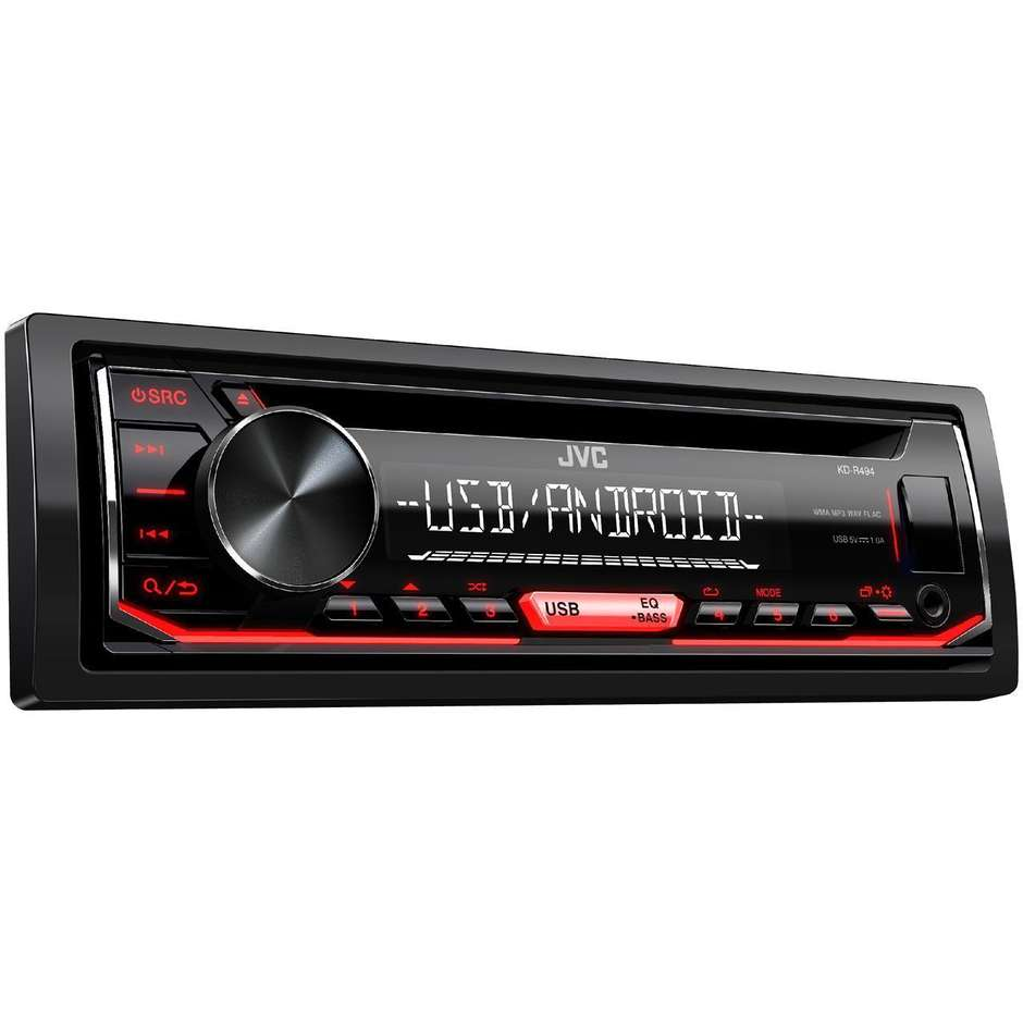 JVC KD-R494 sintolettore CD mp3 con ingressi USB/AUX frontali
