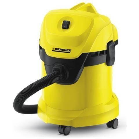 Karcher WD3200 bidone aspiratutto solidi/liquidi potenza 1400 Watt capacità 17 litri colore giallo