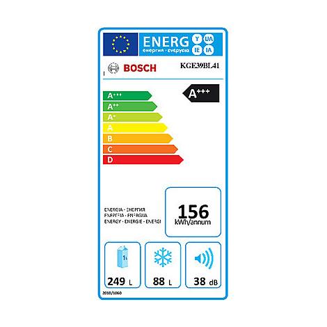 kge-39bl41 bosch frigorifero classe a+++ 339 litri 60 cm statico vent inox