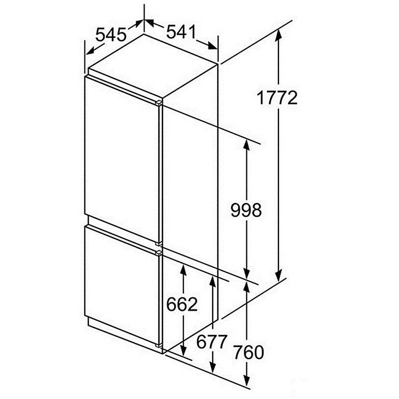 kin-86vs30s bosch frigorifero classe a++ 255 litri