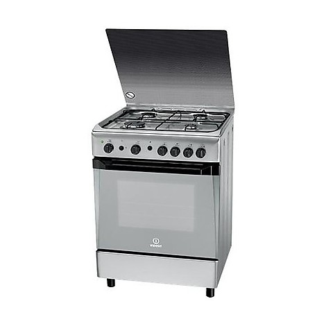 kn-6g21sx indesit cucina a gas inox 4 fuochi + forno gas - cucine ... - Cucine A Gas Indesit
