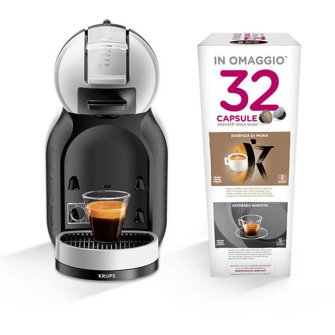 Krups KP123BKP macchina del caffè in capsule Mini Me colore + 32 capsule Nescafè Dolce Gusto