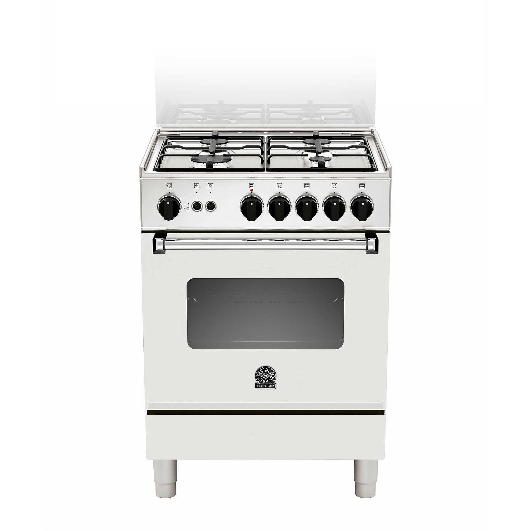 La Germania AMN104GEVSWE serie americana cucina 60x50 4 fuochi a gas ...