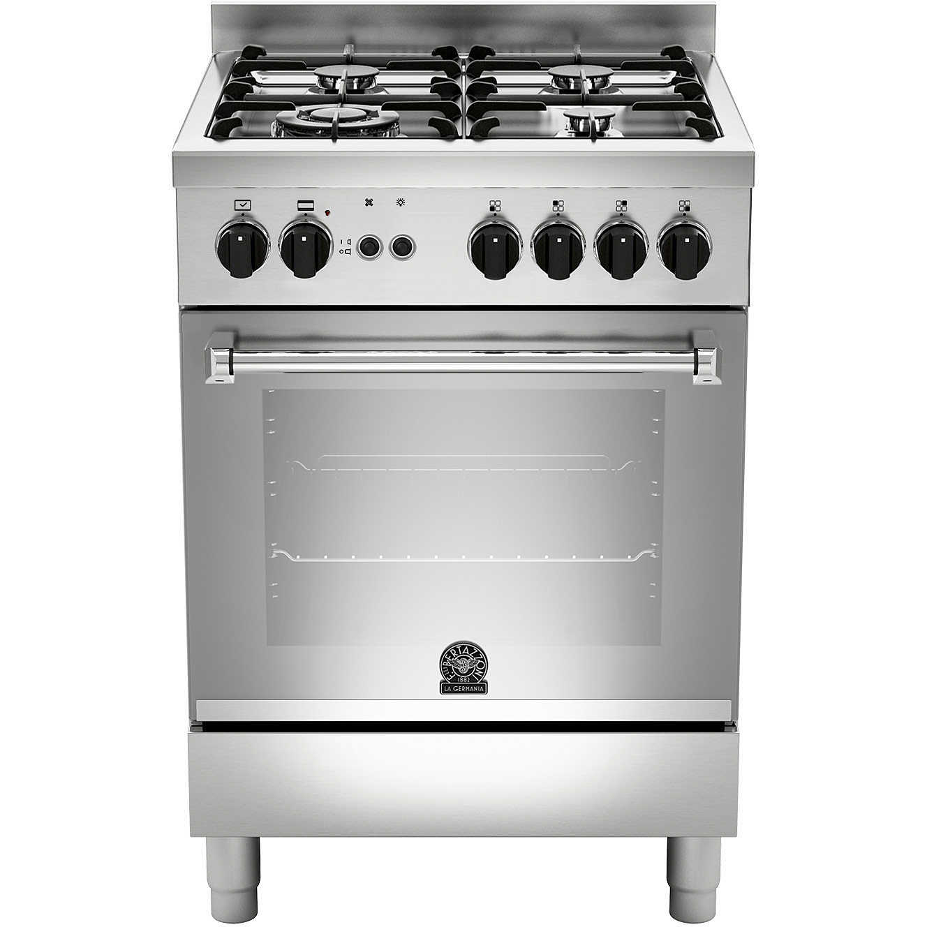 La germania amn604gevsxc cucina 60x60 4 fuochi a gas forno gas ventilato con grill elettrico 56 - Cucina con forno a gas ventilato ...