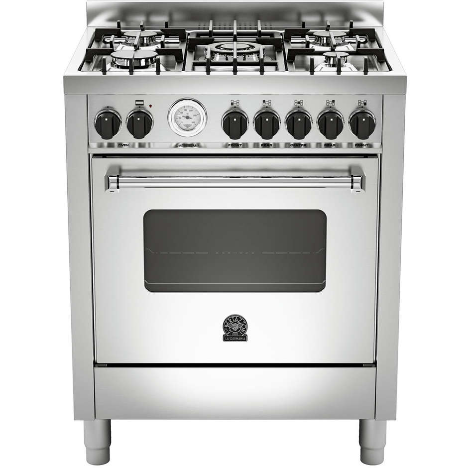 La germania amn705gevsxt cucina 70x60 5 fuochi a gas forno a gas ventilato con grill elettrico - Cucina con forno a gas ventilato ...