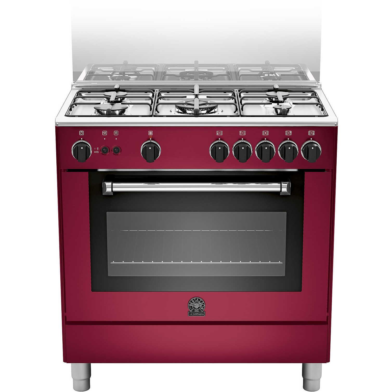 La germania amn805gevsvie cucina 80x50 5 fuochi a gas forno a gas ventilato con grill elettrico - Cucina con forno a gas ventilato ...