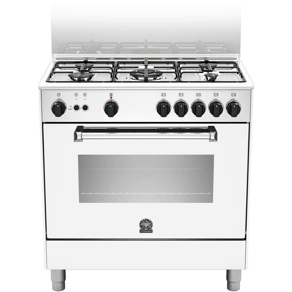 La germania amn805gevswe cucina 80x50 5 fuochi a gas forno a gas ventilato con grill elettrico - Cucina a gas 5 fuochi ...