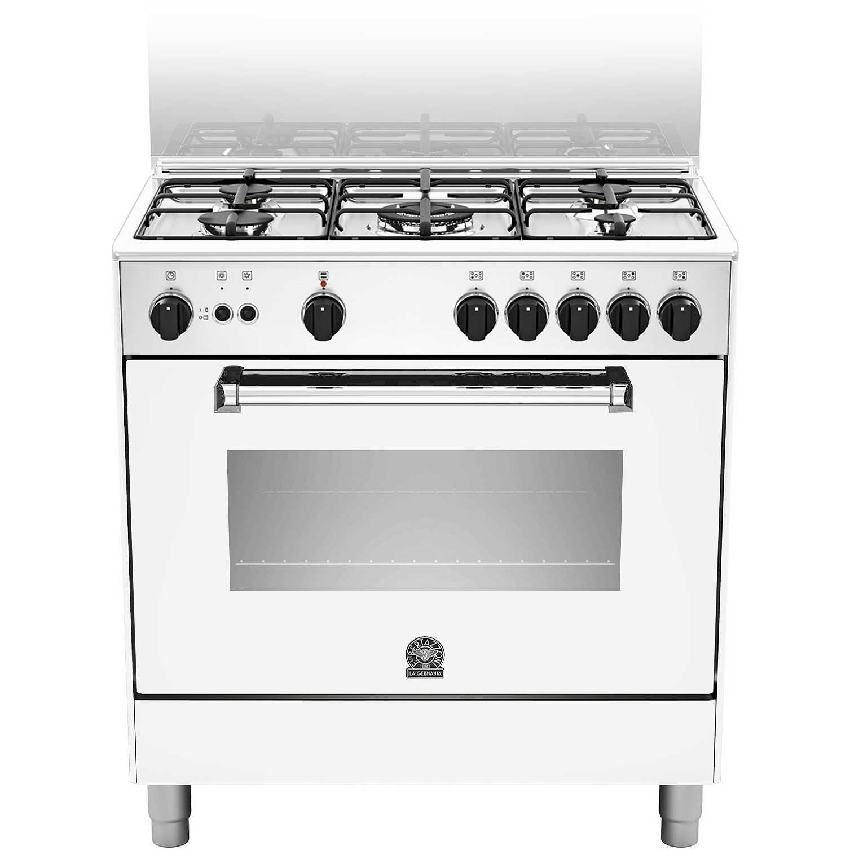 La germania amn805gevswe cucina 80x50 5 fuochi a gas forno a gas ventilato con grill elettrico - Cucina con forno ventilato ...