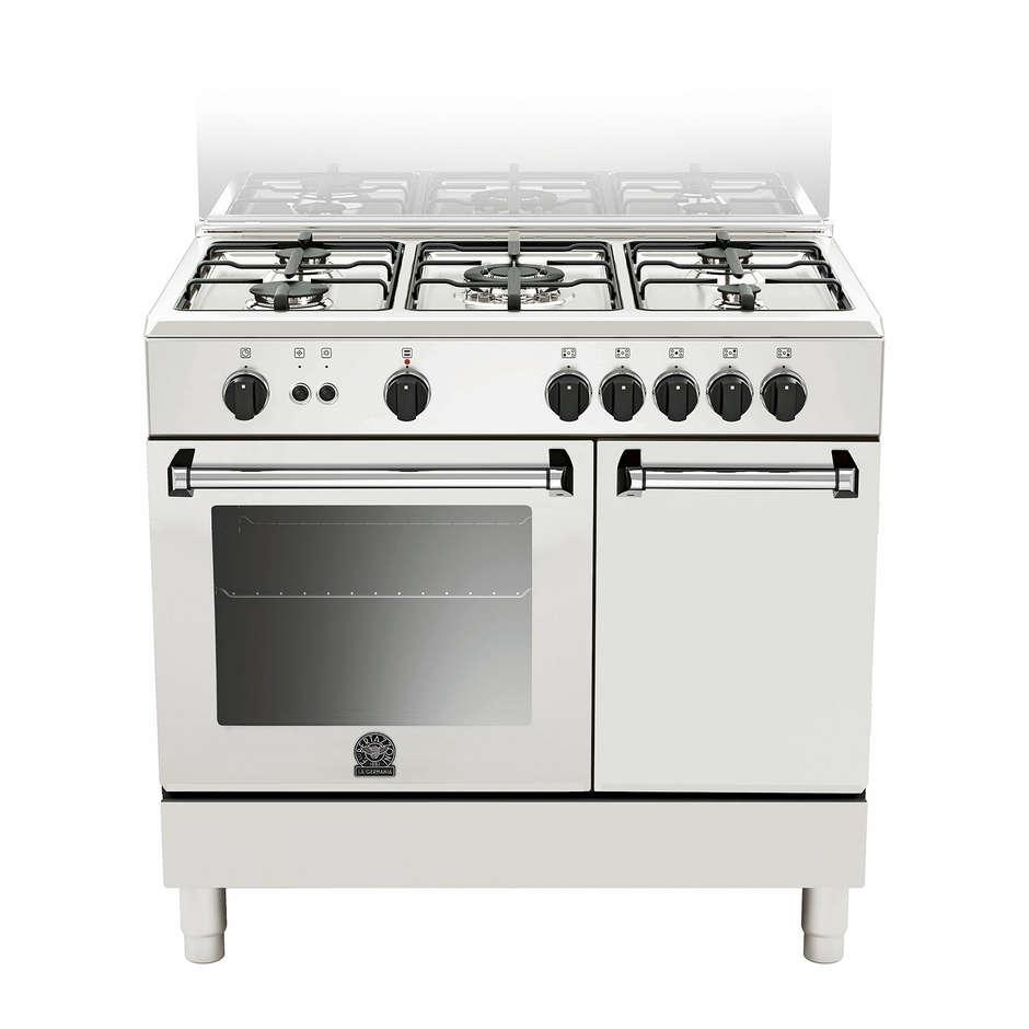La germania amn905gevpwe cucina 90x60 5 fuochi a gas stipetto forno gas ventilato 56 litri - Cucina a gas 5 fuochi ...