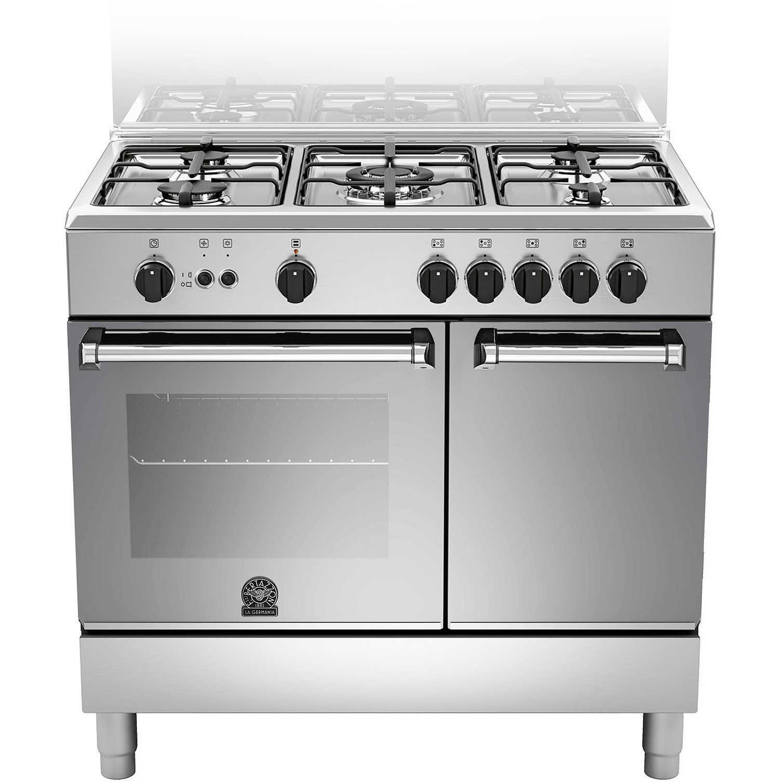 La Germania AMN905GEVPXE cucina 90x60 5 fuochi a gas stipetto forno ...