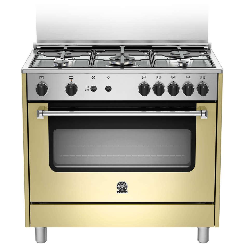 La germania amn905gevscre cucina 90x60 5 fuochi a gas forno a gas ventilato con grill elettrico - Cucina con forno ventilato ...