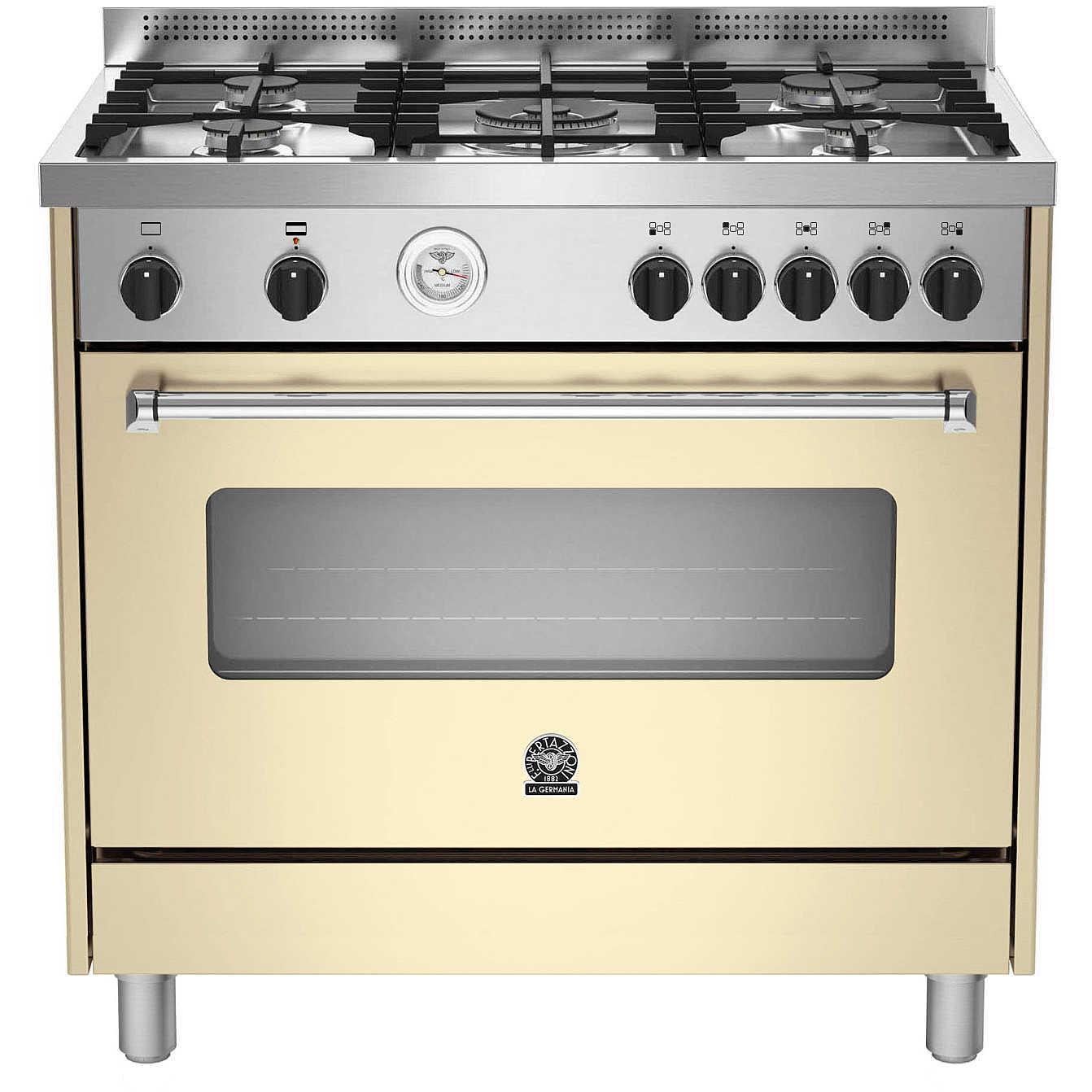 La germania amn905gevscrt cucina 90x60 5 fuochi a gas forno a gas ventilato con grill elettrico - Cucina con forno ventilato ...