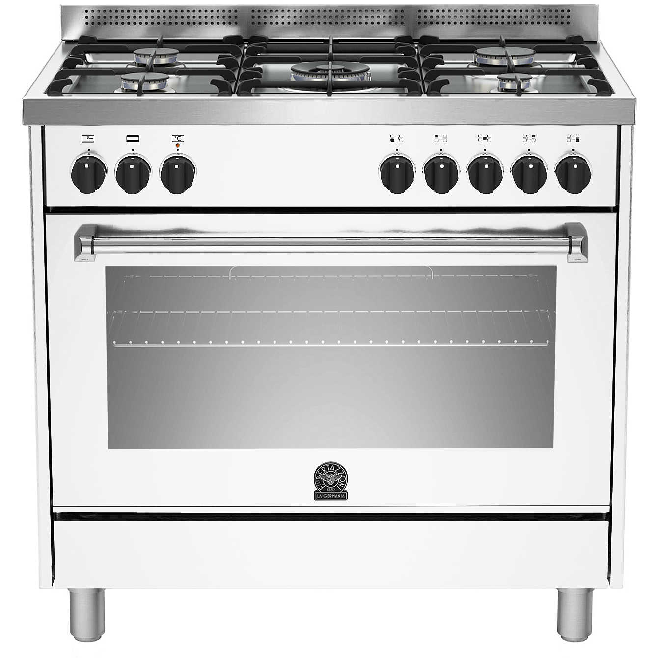 La germania amn905mfeswc cucina 90x60 5 fuochi a gas forno - La germania cucina ...