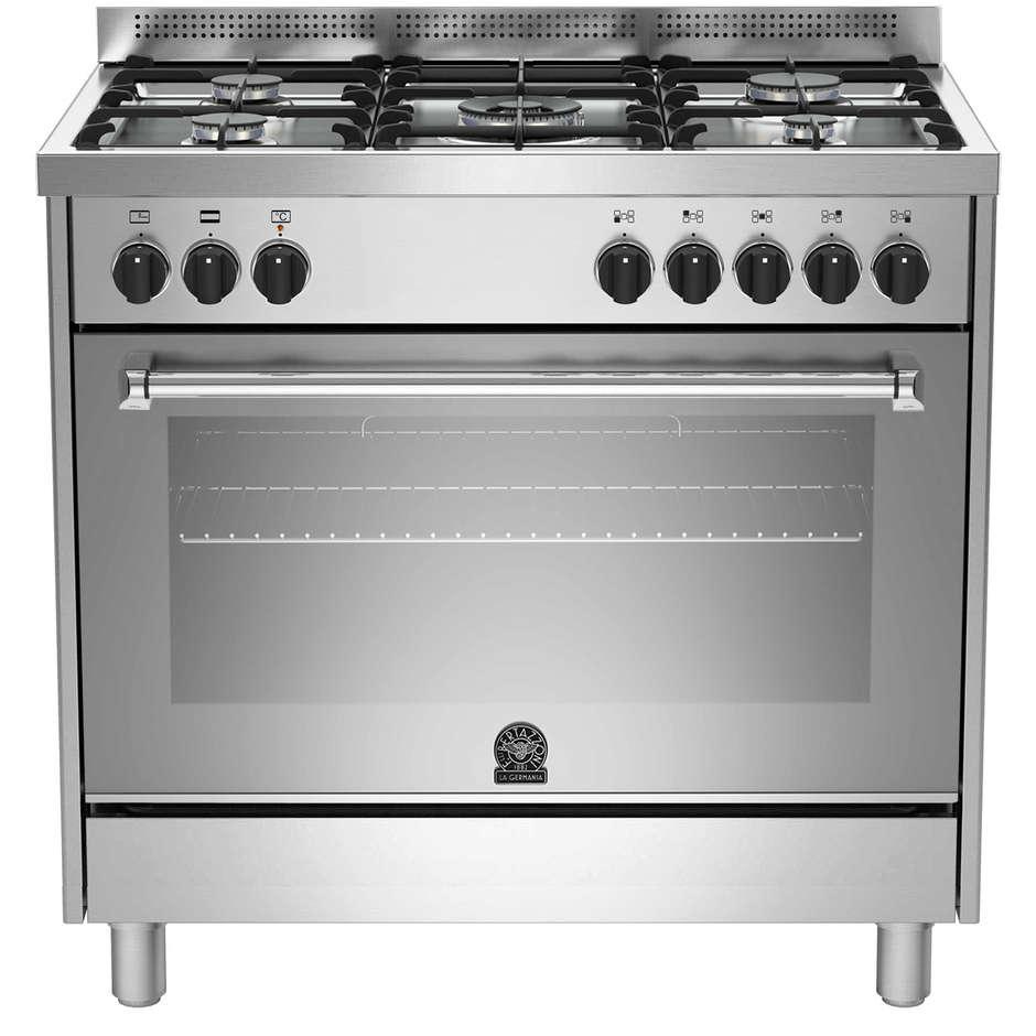 La germania amn905mfesxc cucina 90x60 5 fuochi a gas forno elettrico multifunzione 85 litri - Cucina 5 fuochi ...