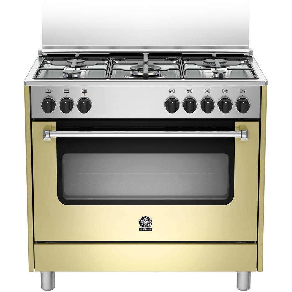 La Germania Amn965ecrt Cucina 90x60 5 Fuochi A Gas Forno Elettrico 85 L Classe A Colore Crema Cucine Cucina 5 Fuochi Clickforshop