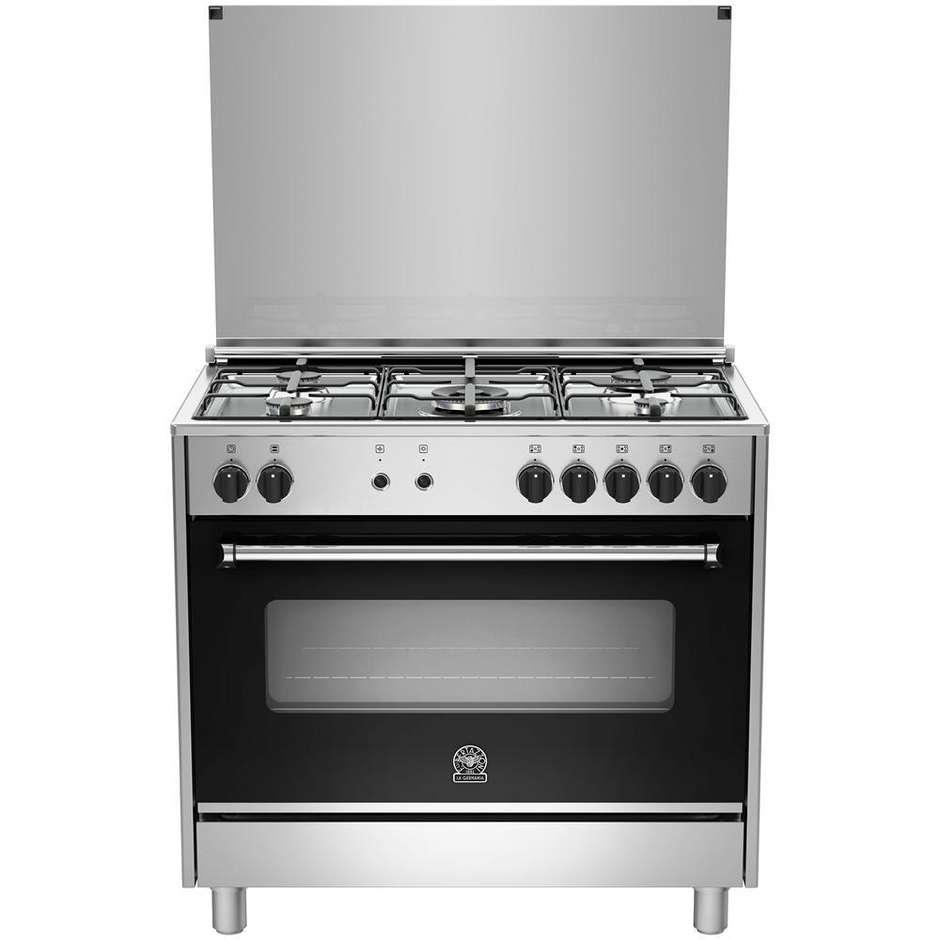 La germania ams95c61ldx cucina 90x60 5 fuochi a gas forno for Cucina 5 fuochi