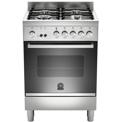La germania ftr604gevsxc cucina 60x60 4 fuochi a gas forno gas ventilato con grill elettrico 56 - Cucina con forno ventilato ...