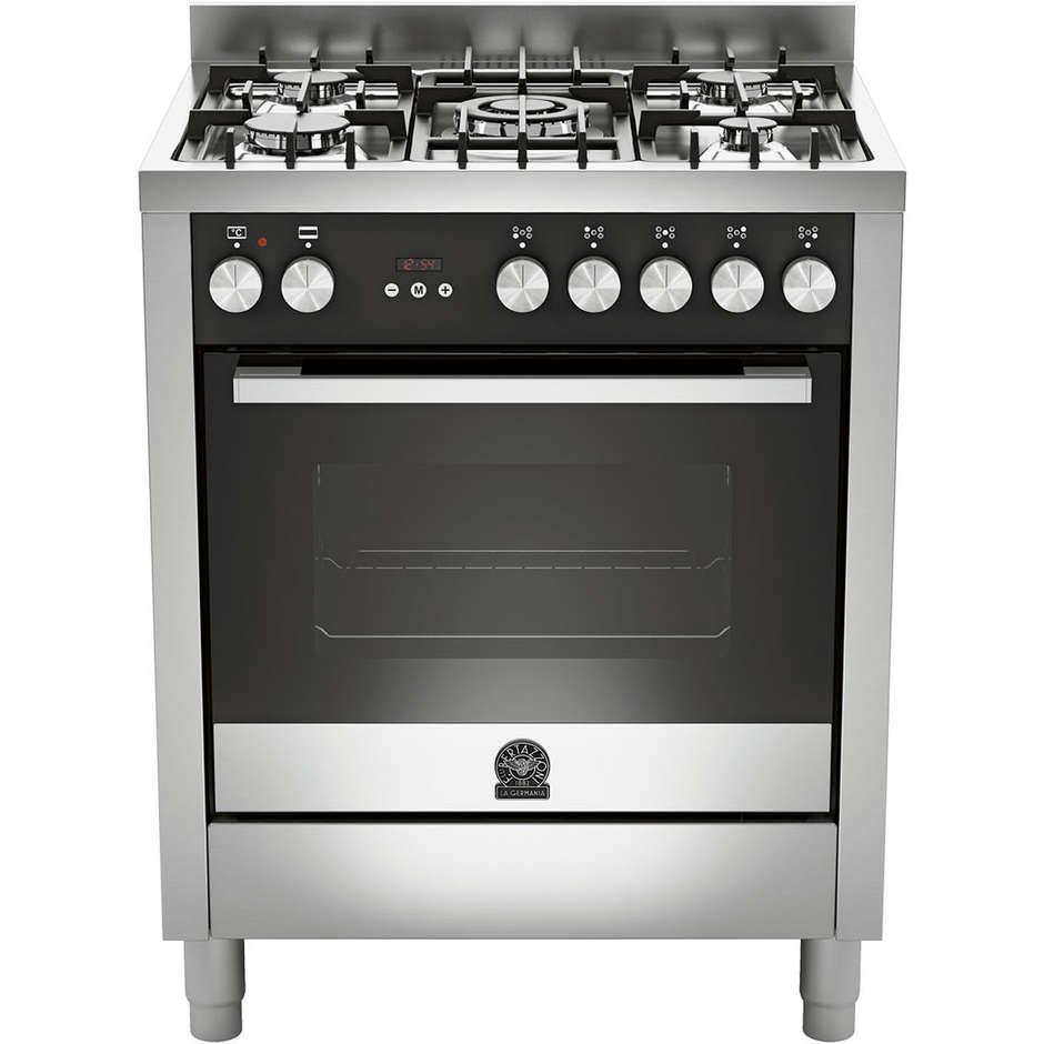 La germania ftr705mfesxt cucina 70x60 5 fuochi a gas forno elettrico multifunzione 56 litri - Cucina a gas 5 fuochi ...