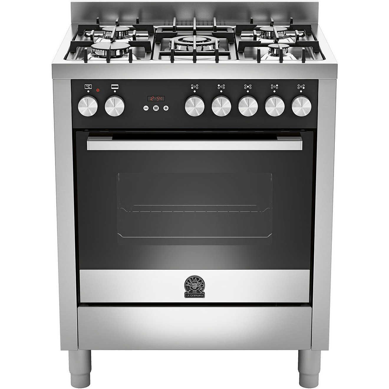 La germania ftr705mfesxt cucina 70x60 5 fuochi a gas forno for Cucina 5 fuochi 70x60