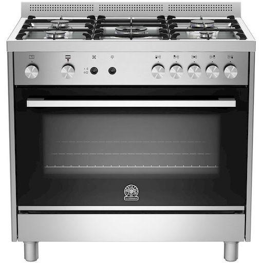 La germania ftr905gevsxc cucina 90x60 5 fuochi a gas forno a gas ventilato con grill elettrico - Cucina con forno a gas ventilato ...