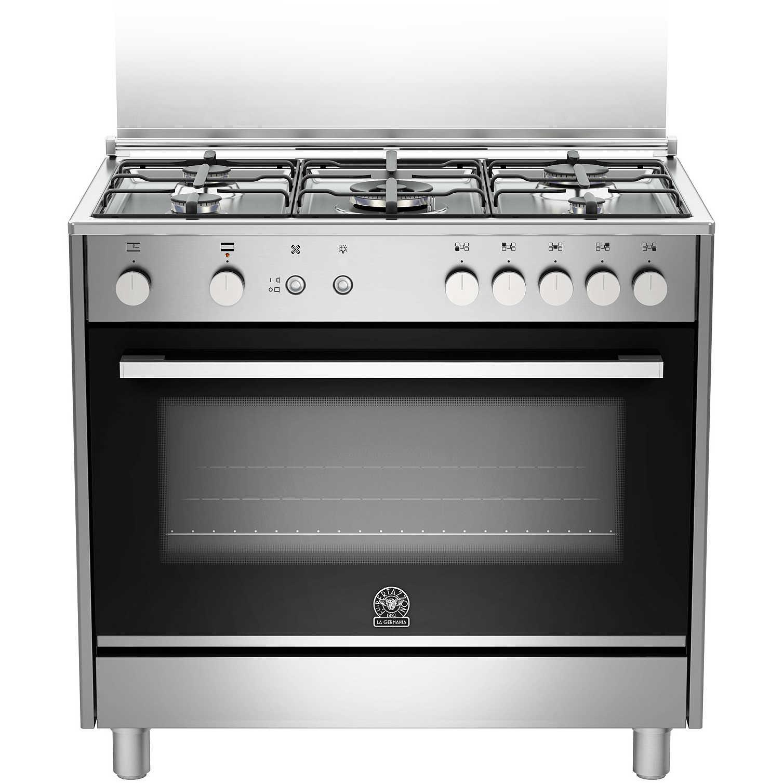 La germania ftr905gevsxe cucina 90x60 5 fuochi a gas forno gas ventilato con grill elettrico - Forno incasso a gas ventilato ...