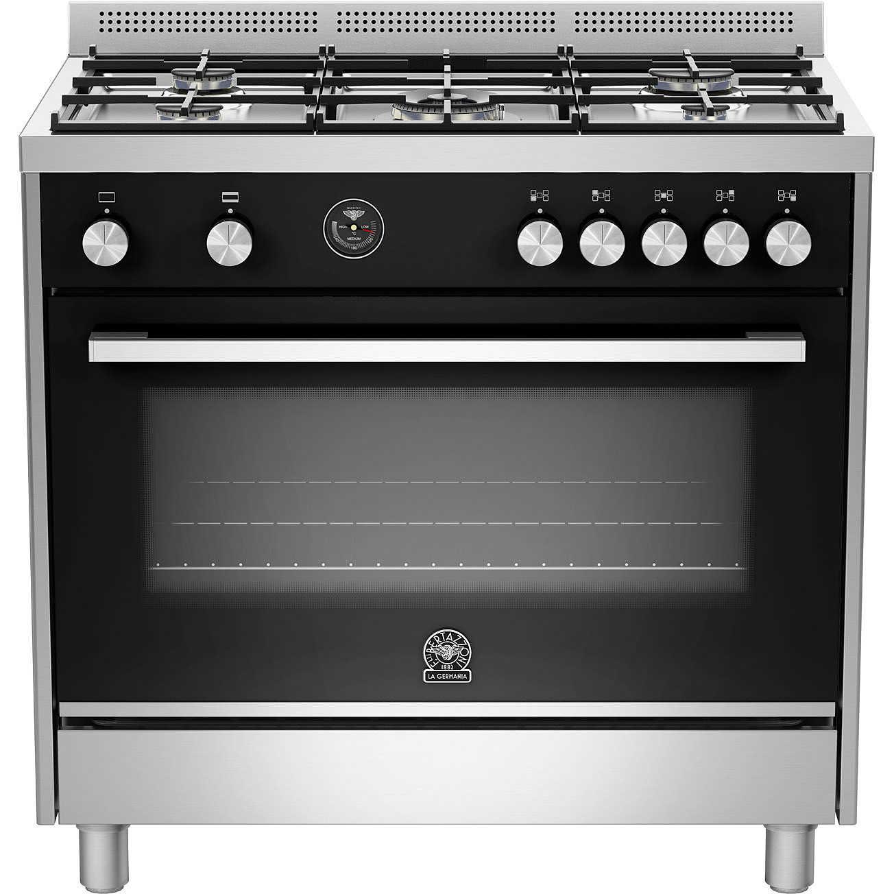 La germania ftr905gevsxt cucina 90x60 5 fuochi a gas forno a gas ventilato con grill elettrico - Cucina con forno a gas ventilato ...