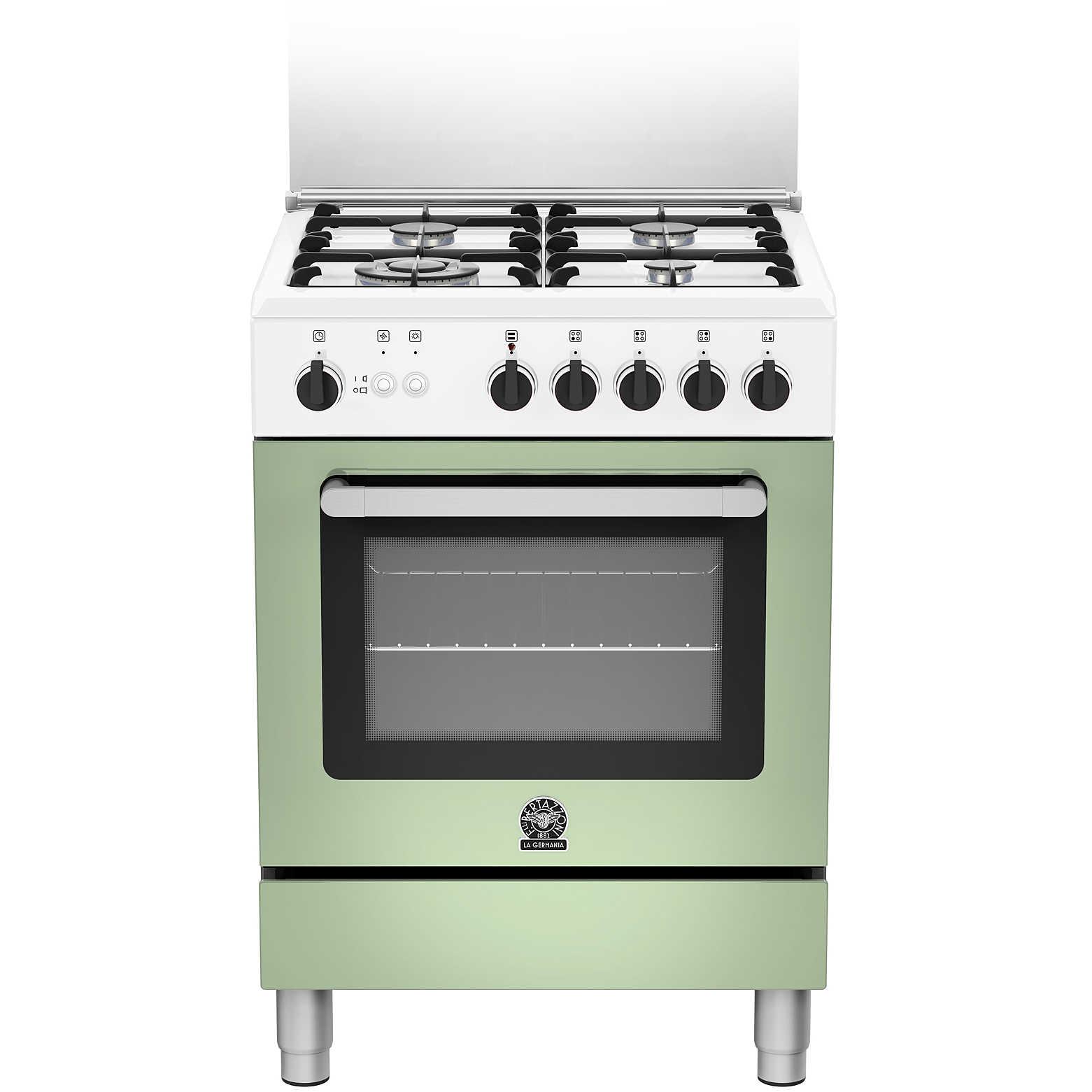La Germania PRM604GEVSWVE serie Prima cucina 4 fuochi a gas 60x60 ...