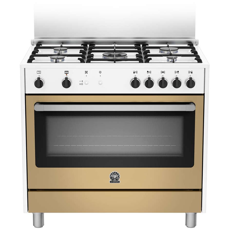La germania prm905gevswle serie prima cucina 90x60 5 fuochi a gas forno a gas ventilato con - Cucina 5 fuochi ...