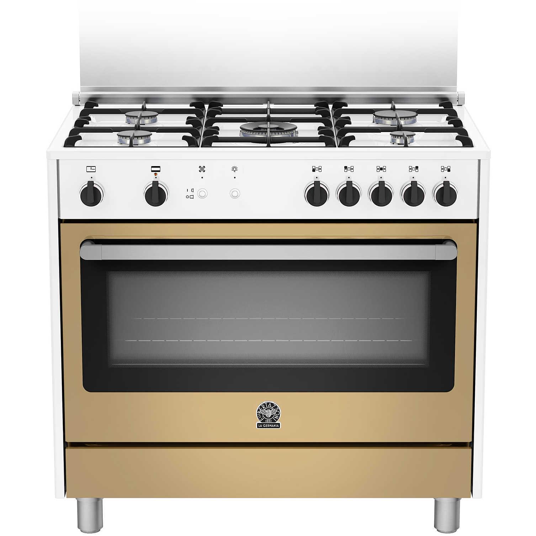 La germania prm905gevswle serie prima cucina 90x60 5 fuochi a gas forno a gas ventilato con - Cucine con forno elettrico ventilato ...