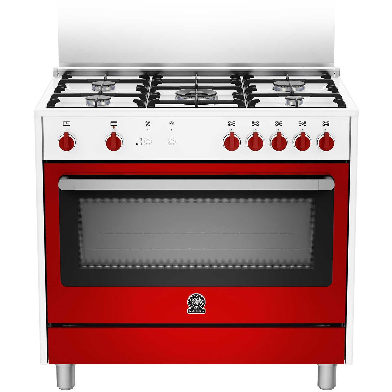 La germania prm905gevswre serie prima cucina 90x60 5 fuochi a gas forno a gas ventilato con - Cucina con forno a gas ventilato ...