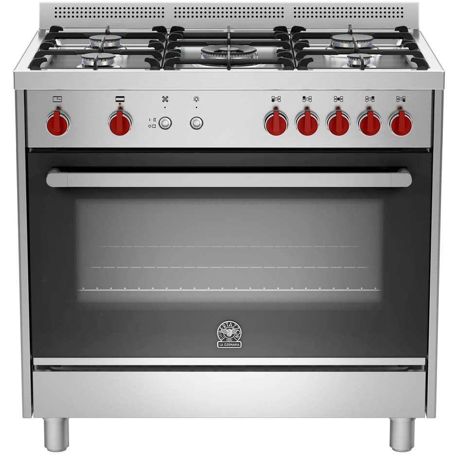 La germania prm905gevsxc cucina 90x60 5 fuochi a gas forno a gas ventilato con grill elettrico - Cucina a gas 5 fuochi ...