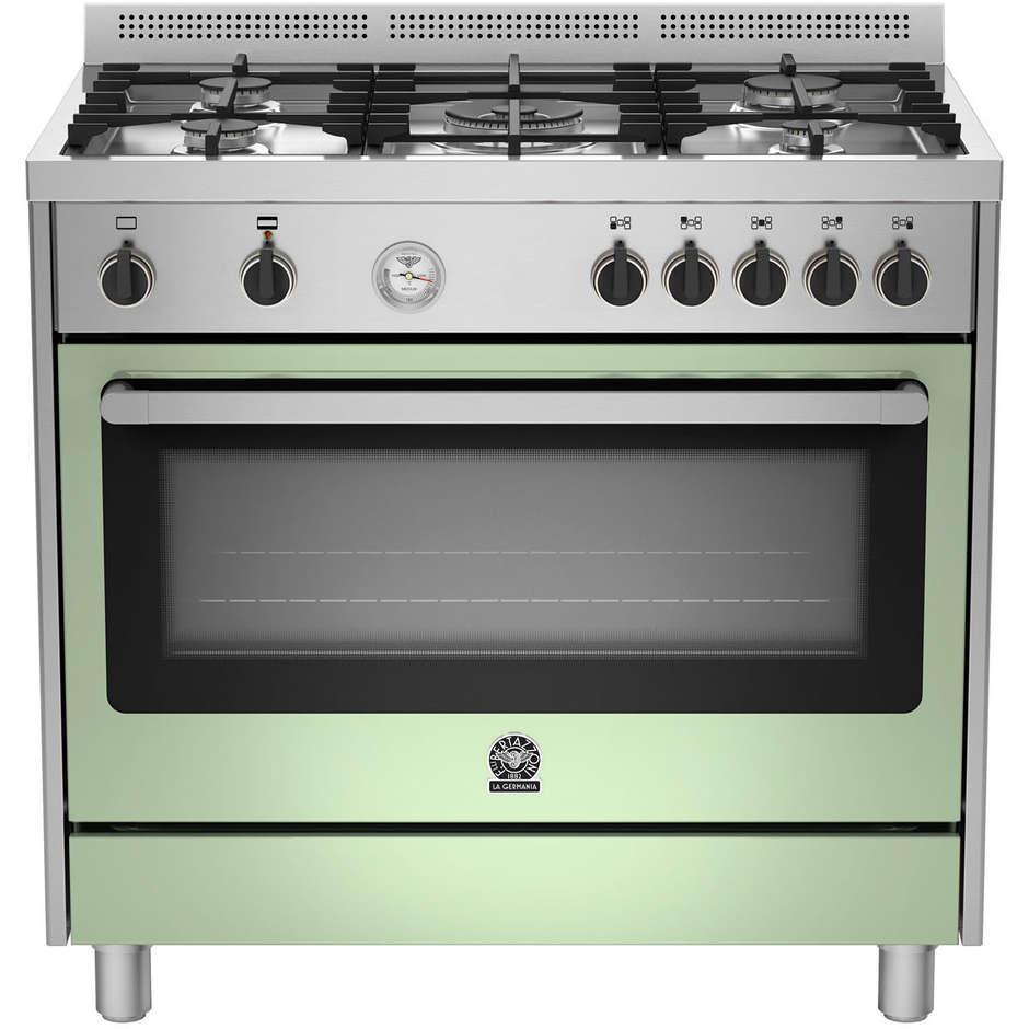 La germania prm905gevsxvt serie prima cucina 90x60 5 fuochi a gas forno a gas ventilato classe - Cucina a gas 5 fuochi ...