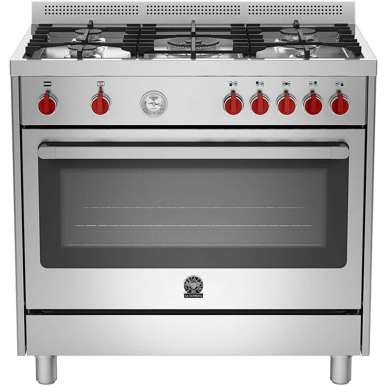 La Germania Prm965ext Cucina 90x60 5 Fuochi A Gas Forno Elettrico 85 L Classe A Colore Acciaio Inox Cucine Cucina 5 Fuochi Clickforshop