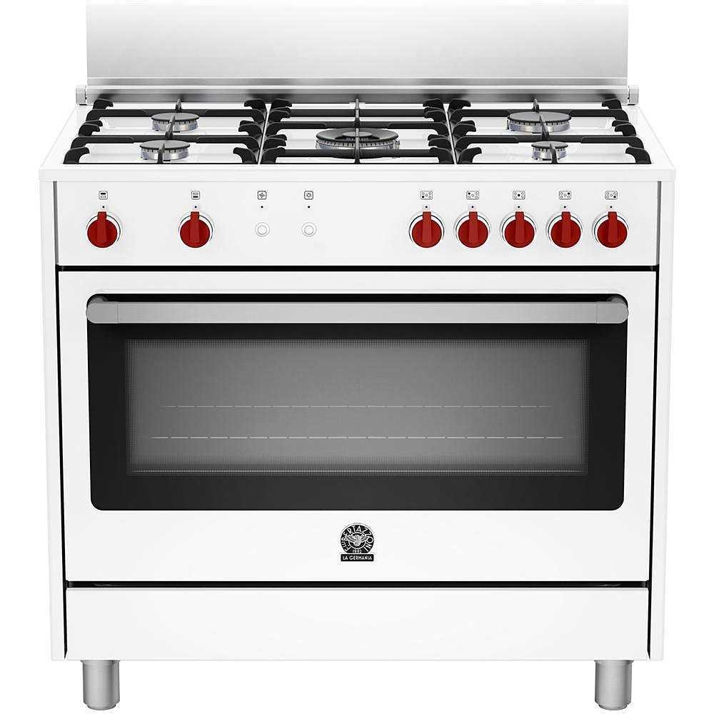 La germania ris95c71cw cucina 90x60 5 fuochi a gas forno a gas ventilato con grill elettrico 115 - Cucina con forno a gas ventilato ...