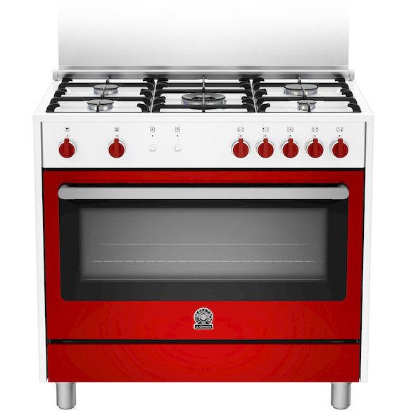 La germania ris95c71cwr cucina 90x60 5 fuochi a gas forno a gas ventilato con grill elettrico - Cucina con forno ventilato ...