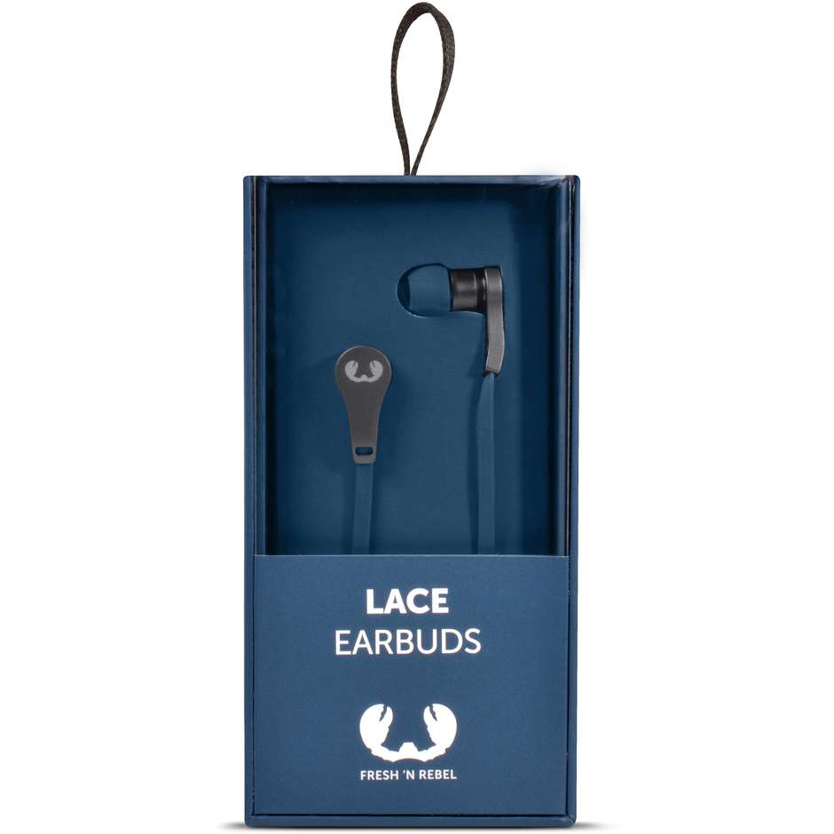 lace earbuds - indigo