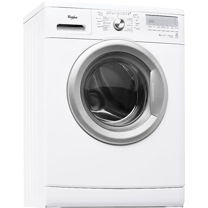 Lavatrice stretta da 45cm aws-6200 whirlpool carica frontale classe a+++ 6 kg