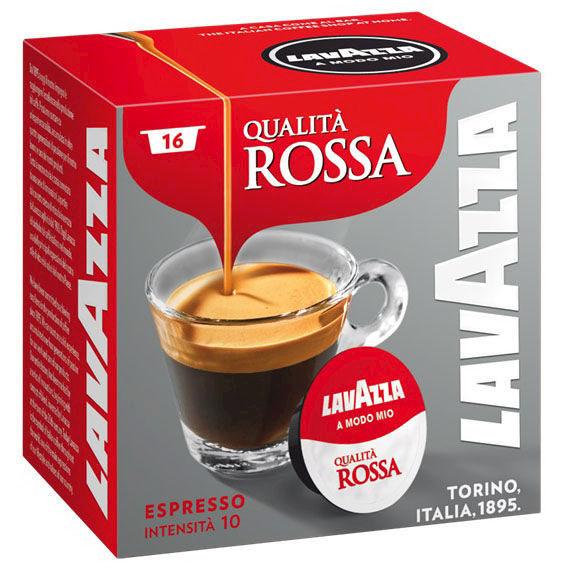 Lavazza A Modo Mio qualità rossa confezione da 16 capsule caffè espresso