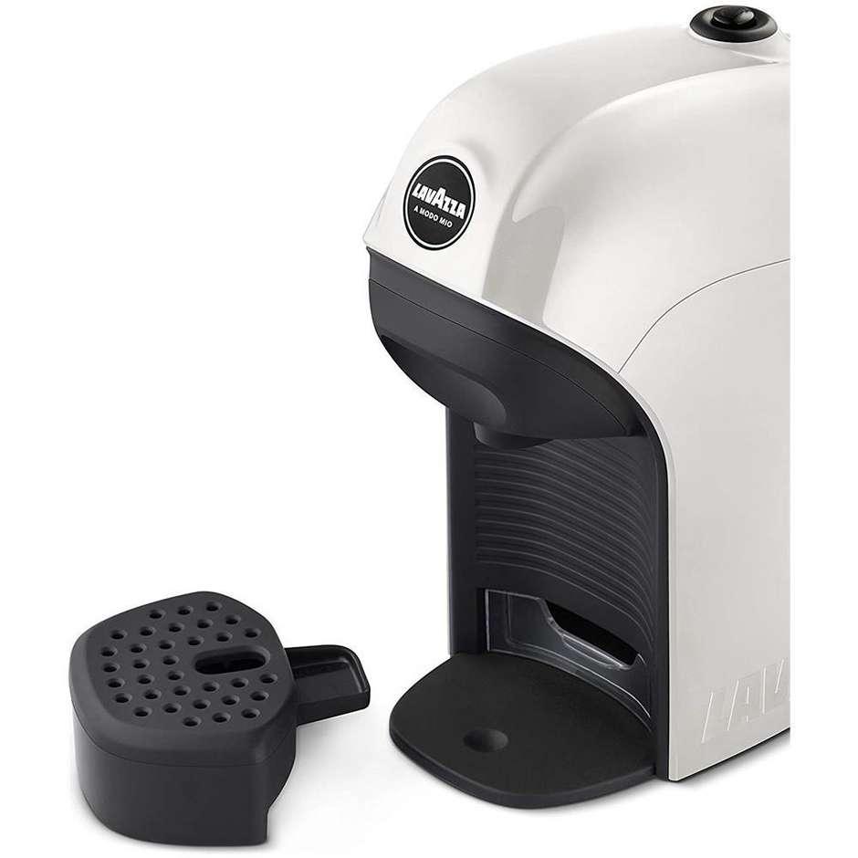 Lavazza Tiny macchina del caffè espresso automatica 1450 Watt serbatoio 0.75 L colore bianco + 64 capsule