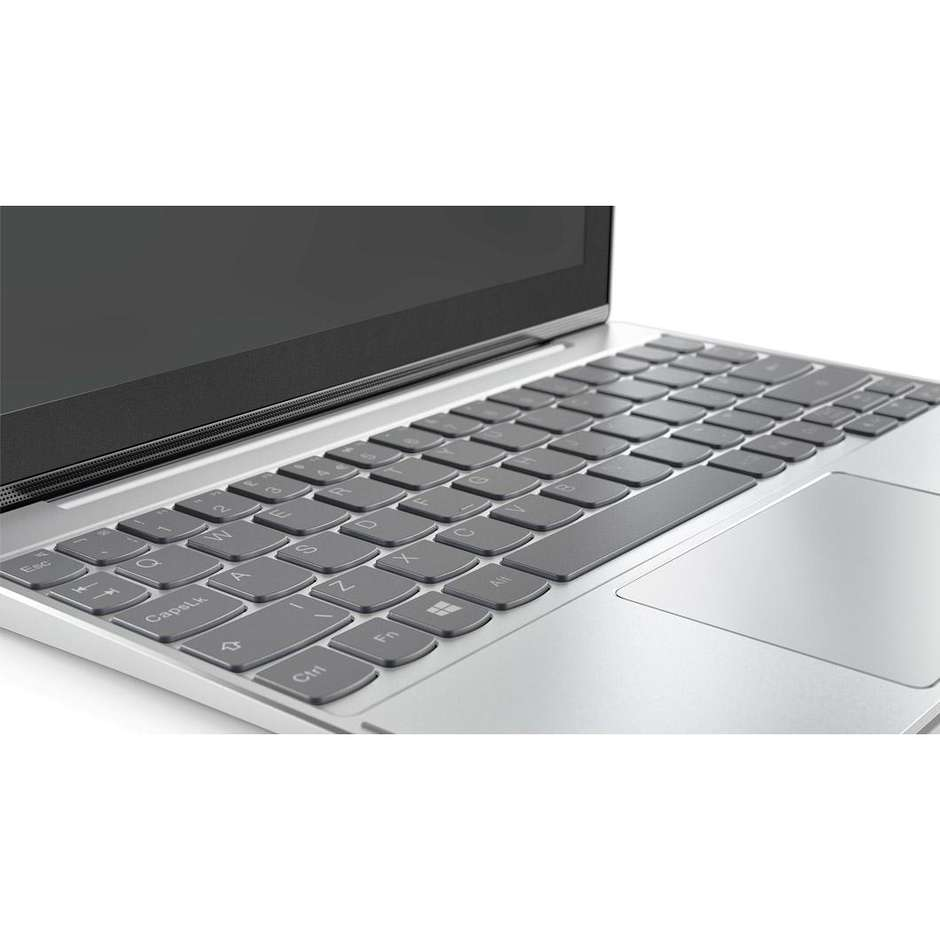 "Lenovo 80XF001EIX Miix 320-10ICR Notebook 10,1"" 2in1 Intel Atom Z8350 Ram 2 GB Hard Disk 32 GB colore Platino"