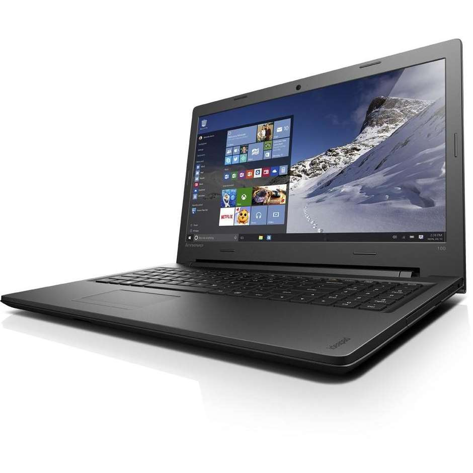 "Lenovo IdeaPad 100-15IBD Notebook 15,6"" Intel Core i5-4288U Ram 4 GB HDD 1 TB colore Nero"
