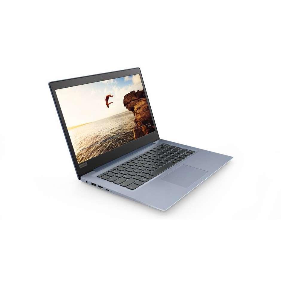 "Lenovo Ideapad 120S-14IAP Notebook 14"" Intel Celeron N3350 Ram 4GB SDD 64GB Windows 10 colore Blu denim 81A500D9IX"