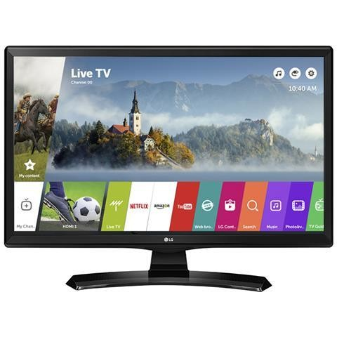 "LG 24MT49S monitor Tv LED 24"" HD Ready Smart Tv Wi-fi classe A nero"