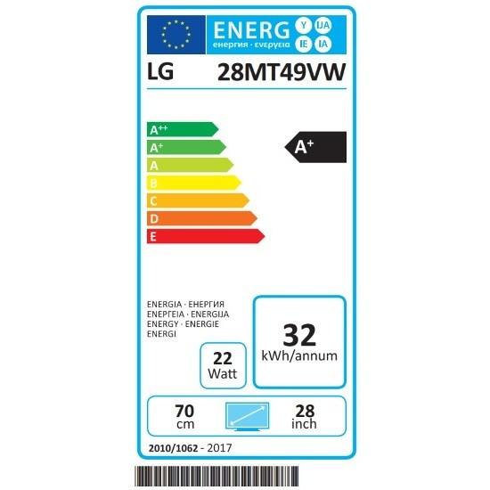 """LG 28MT49VW-WZ monitor Tv LED 28"""" HD Ready classe A+ bianco"""