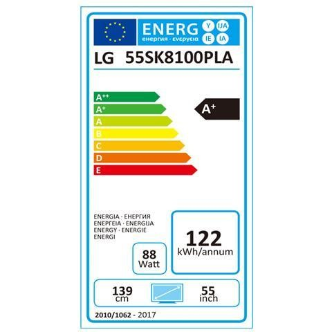 "LG 55SK8100 TV Led 55"" Super Ultra HD Nano Cell Smart TV 4K Cinema HDR Classe A+ Nero,argento"