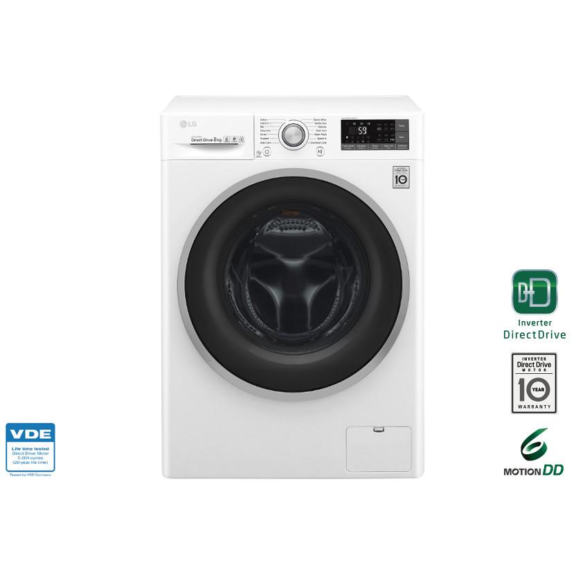 LG F4J7TN1W lavatrice carica frontale 8 Kg 1400 giri classe A+++ Wi-fi colore bianco