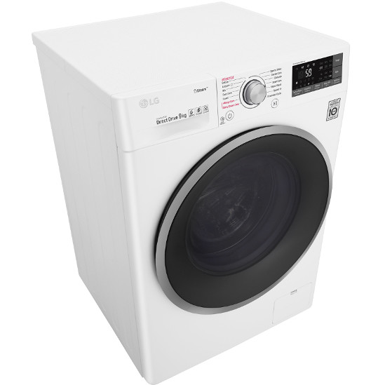 LG F4J7VY1W lavatrice carica frontale 9 Kg 1400 giri classe A+++ -30% colore bianco