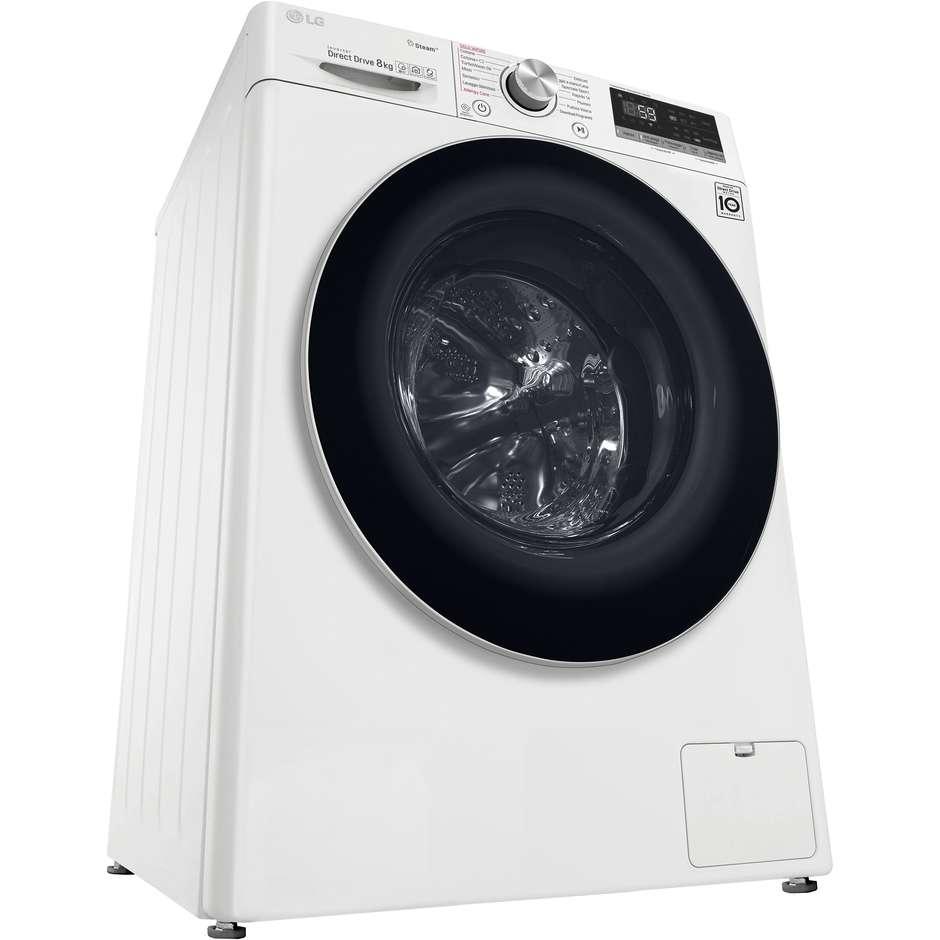 LG F4WV708P1 lavatrice carica frontale classe 8 Kg 1360 giri classe A+++-40% Wifi colore bianco