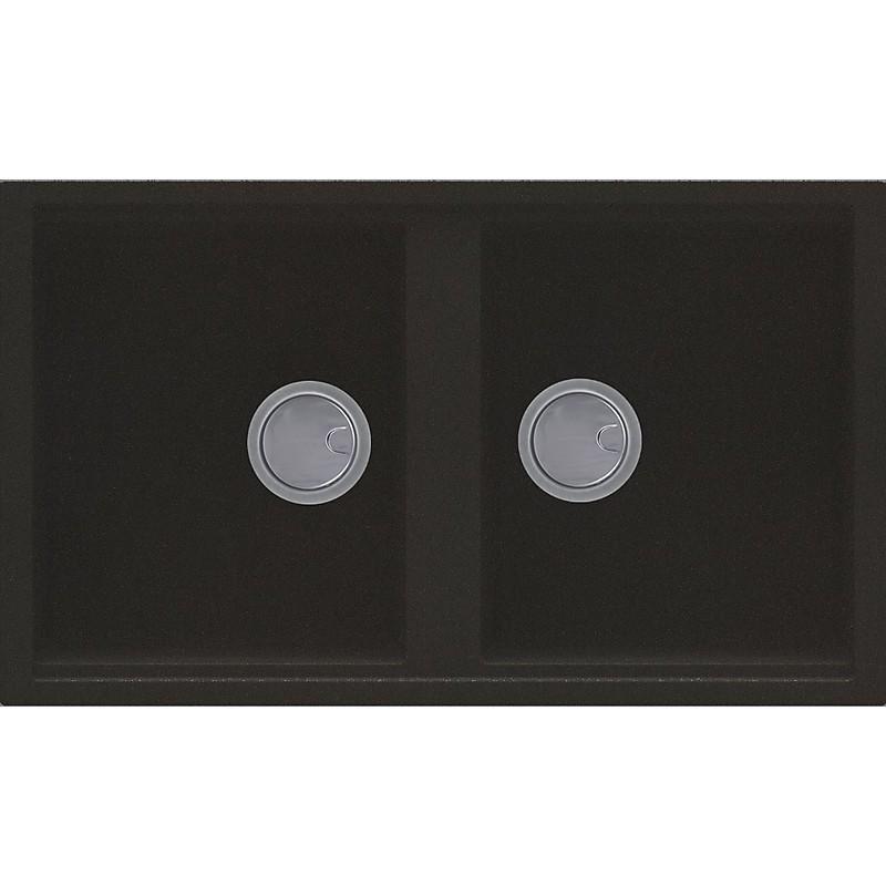 lgb45059 elleci lavello best 450 86x51 2 vasche antracite 59